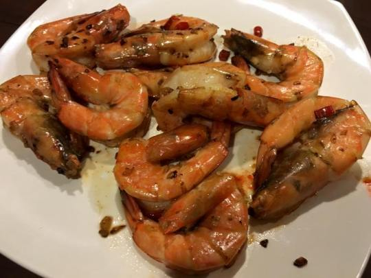 dry wok prawns