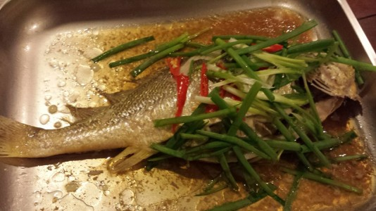 steamed yellow croaker, japanese seabass or 小黄鱼