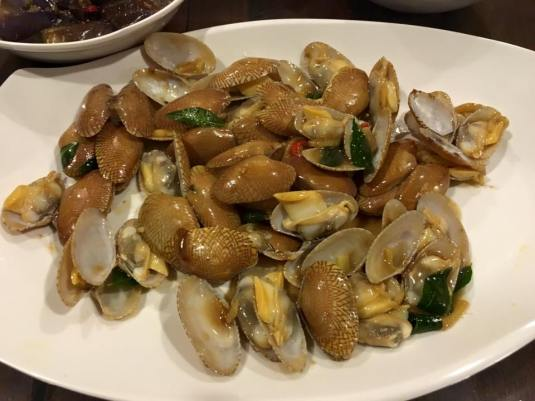 stir-fry manila clams 16.10.2015