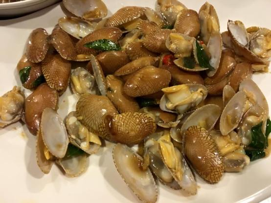stir-fry manila clams