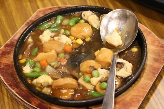 vegetarian egg tofu dish