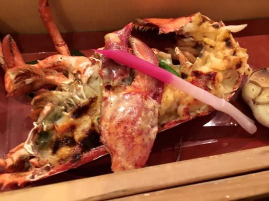 1/2 lobster uni yaki