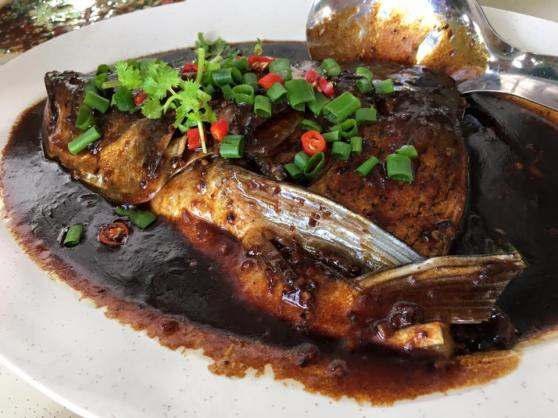 black bean sauce song fish head