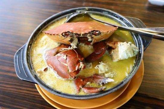 crab beehoon soup