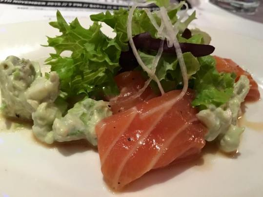 cured salmon with avocado