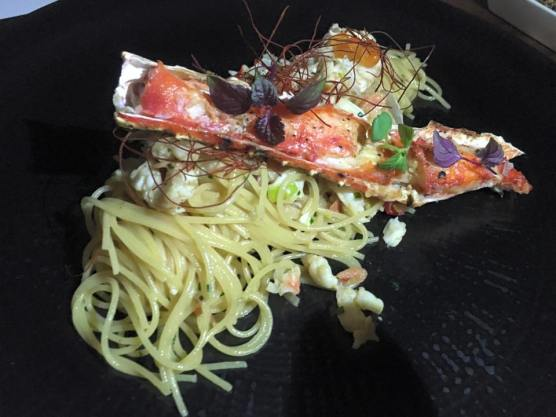 king crab uni & sakuri ebi capellini