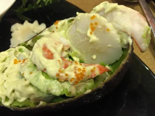 prawns & scallops salad