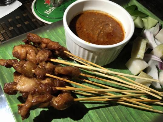 pork & chicken satay
