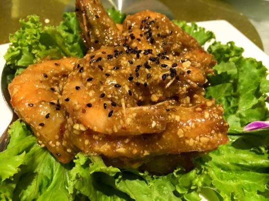 #6 nice done prawns - sauce too sweet