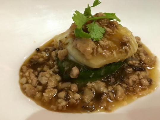 sea perch & minced pork tofu