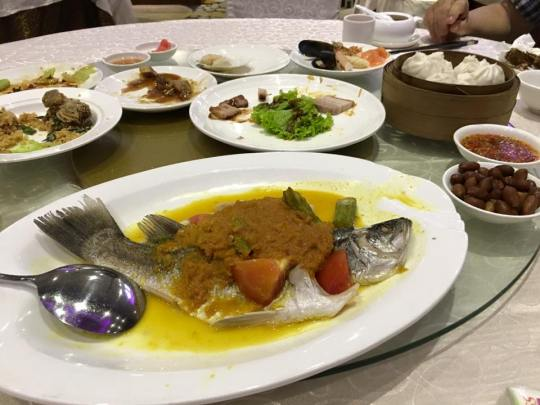 steamed seabass with sambal sauce