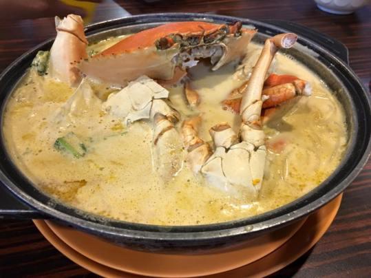 crab beehoon soup=1kg crab S$63