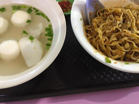 S$2.50 hup kee fishball noodles