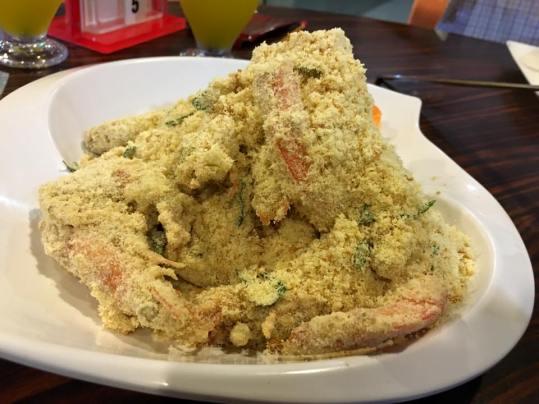 golden sand prawns (milk powder)