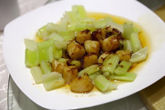 xo scallops with celery