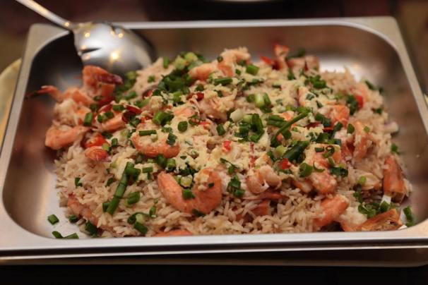 #6 steamed minced garlic prawn rice 蒜蓉鲜虾蒸饭