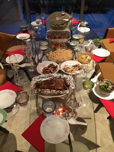 all vietnamese dinner spread