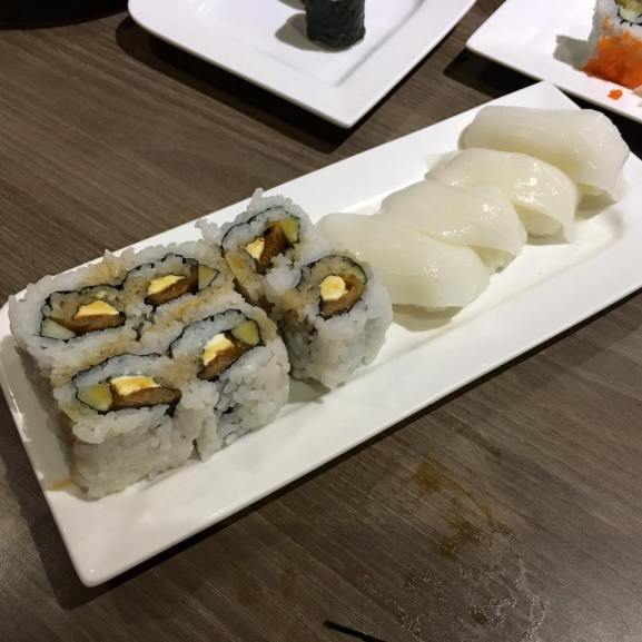 anago cheese sushi & ika sushi
