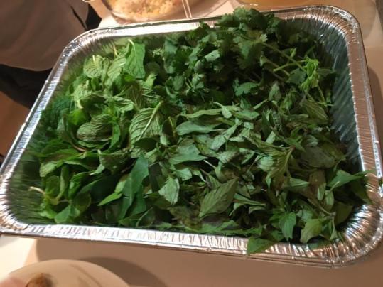 aromatics - basil, mint, coriander & lime leaves