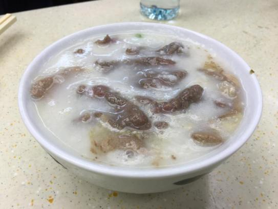 beef + liver congee