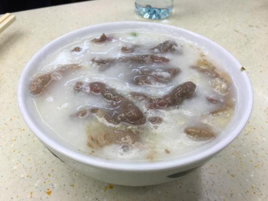 beef + liver congee
