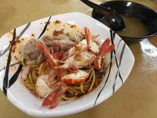 big prawn noodles with bakut dry
