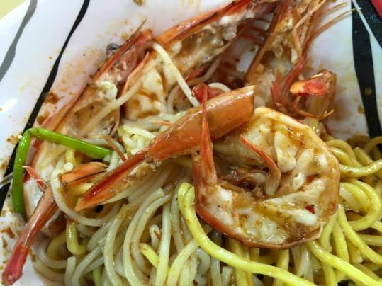 big prawn noodles with bakut dry