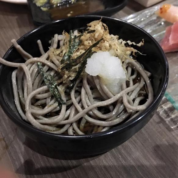 zaru soba - cold buckwheat noodles