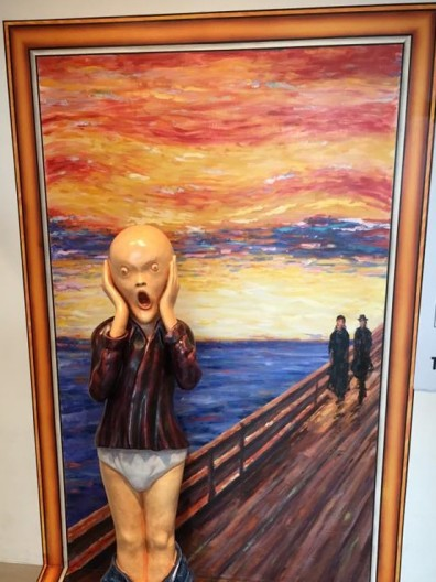 edvard munch the scream =trickeye museum peak galleria