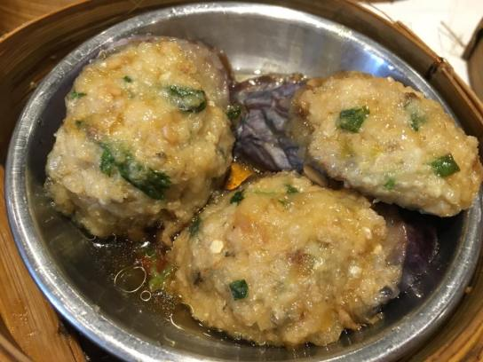 fried eggplant with minced meat