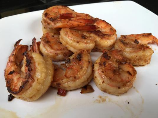 grilled prawns for bun cha