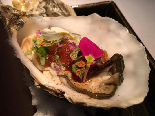 large oysters with ponzu jelly