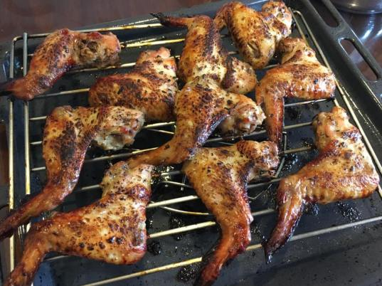 lemongrass BBQ chicken wings