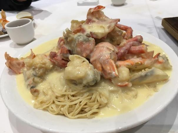 lobster (looks like 1kg) superior sauce with cheese