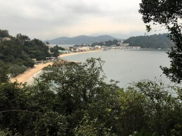 looking back at kwun yam wan(观音湾) beach & tung wan (东湾) beach