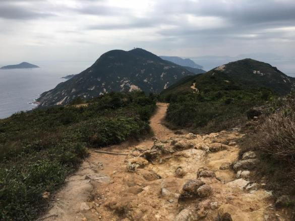 on dragon back HK trail