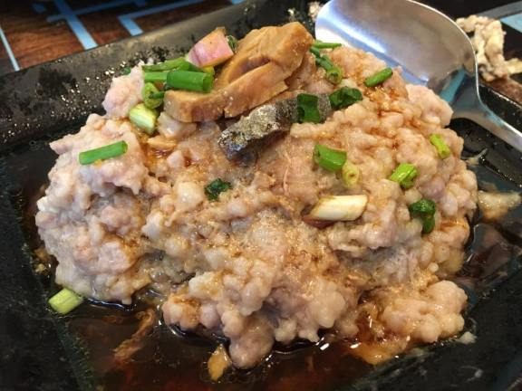 salted fish minced pork咸鱼饼