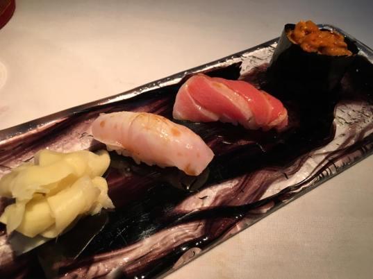 sushi - kinmedai, chutoro, uni