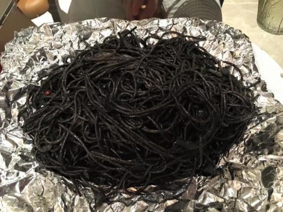 #3 squid ink spaghetti with squid