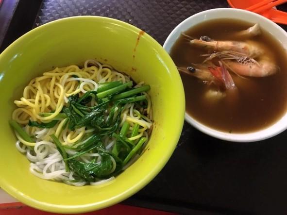 S$5 prawn noodles dry