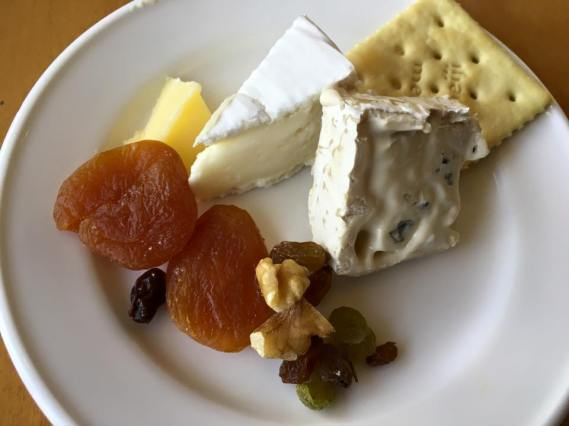 cheese platter, dried fruits, nuts