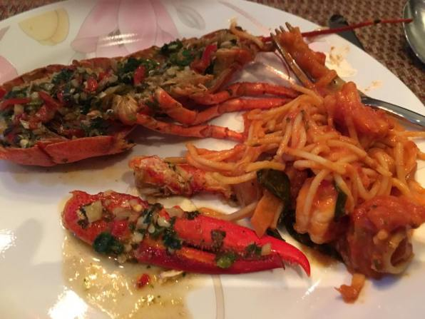 gordon ramsay grilled lobster+prawn pasta in pink sauce