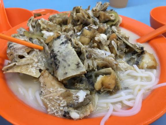 S$12 XO fish head bee hoon