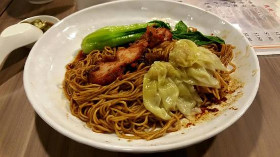 S$5.50 wanton noodles