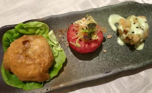 salted egg & wasabi prawns - S$10