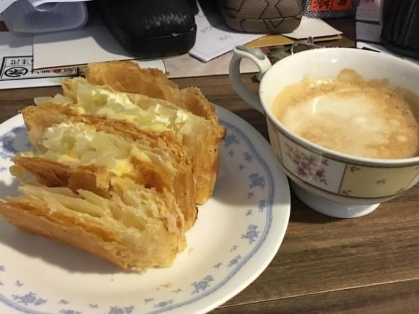 apple strudel + coffee