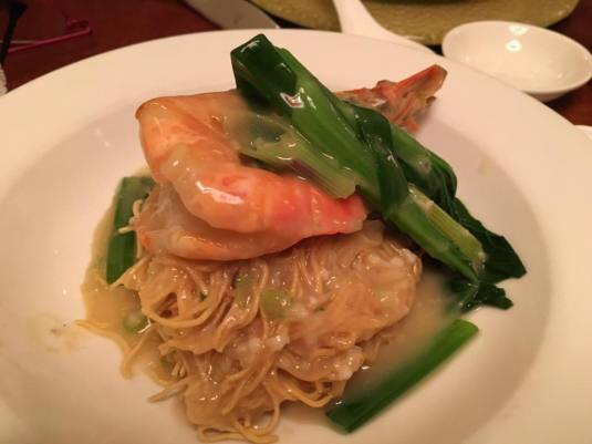 big prawn crispy noodles S$15