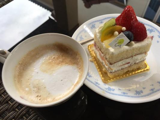 cake + coffee
