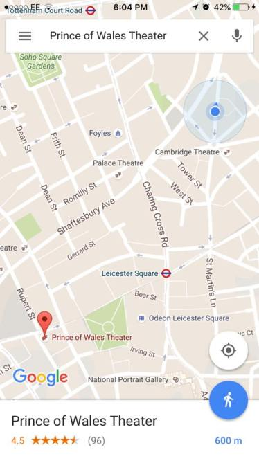 directions to prince of wales theatre