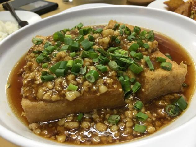 fried tofu with minced pork - S$15